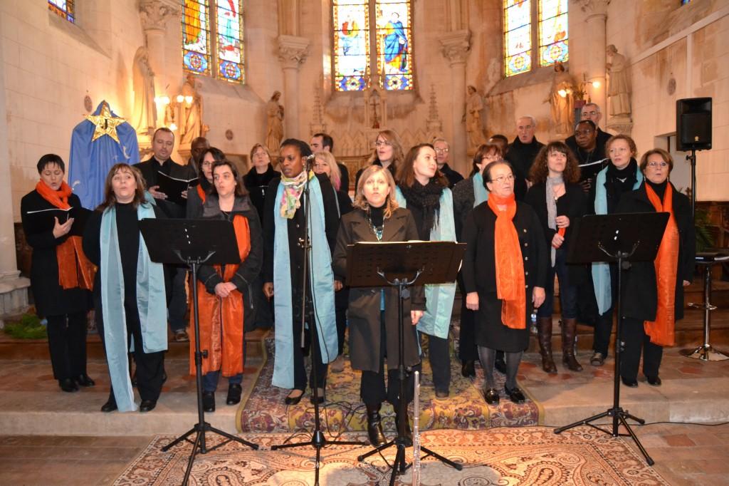 La chorale Gosp'Aigle le 22 décembre 2013 à Crulai